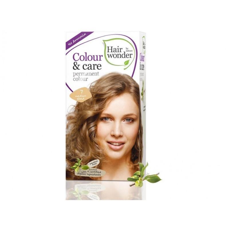 Přírodní dlouhotrvající barva Střední blond 7 Hair wonder - 100 ml