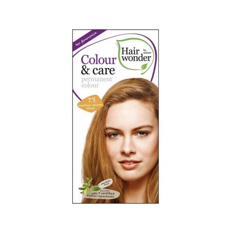 Přírodní dlouhotrvající barva Středně zlatá blond 7 +3 Hair wonder - 100 ml