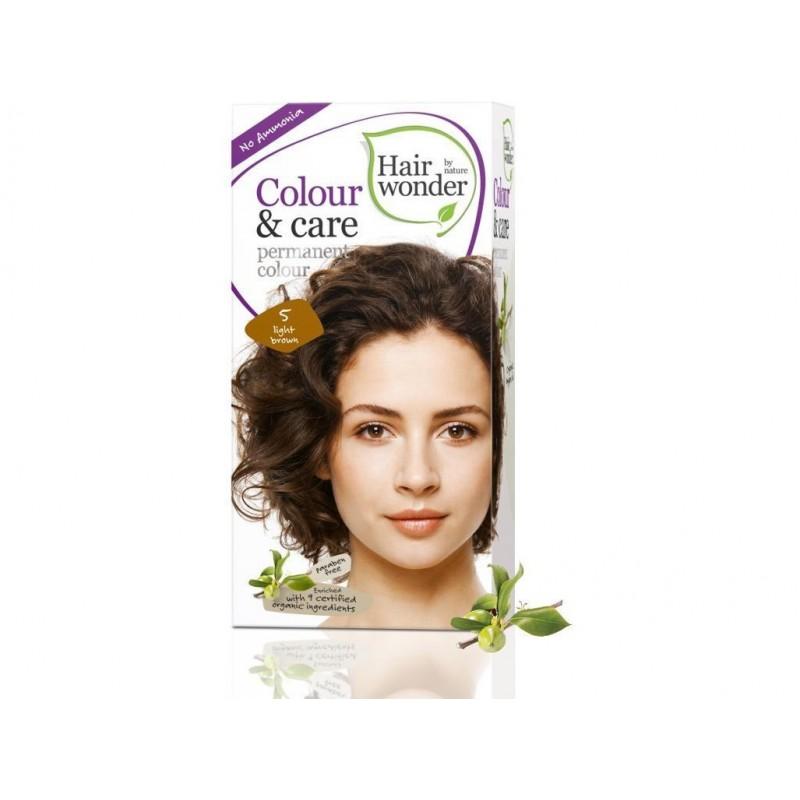 Přírodní dlouhotrvající barva Světlé hnědá 5 Hair wonder - 100 ml