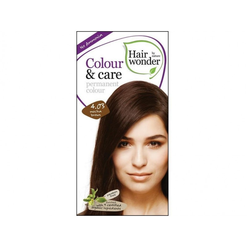 Přírodní dlouhotrvající barva Mocca hnědá 4 +03 Hair wonder - 100 ml