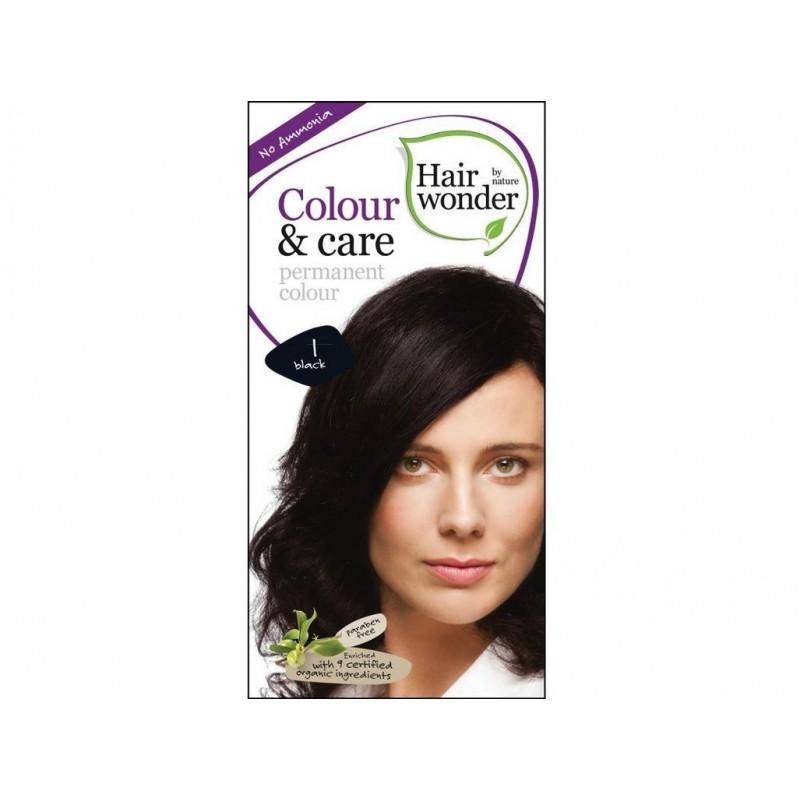 Přírodní dlouhotrvající barva Černá 1 Hair wonder - 100 ml
