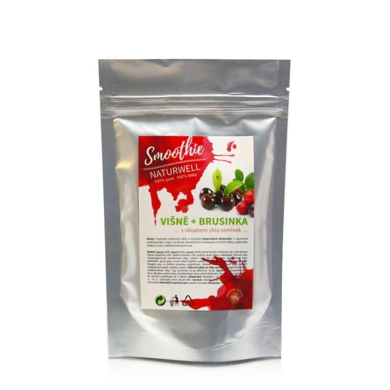 Smoothie Naturwell Višně a Brusinka - 100g