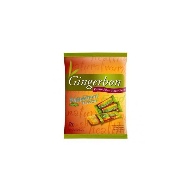 Zázvorové bonbóny s mátou Gingerbon - 125 g