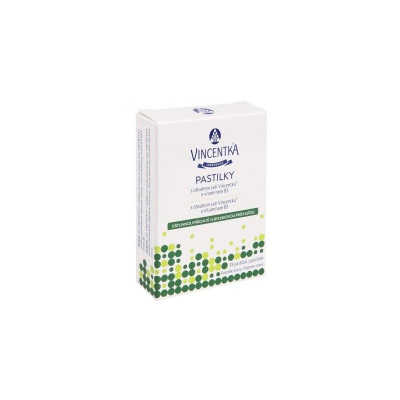 Pastilky bylinné Vincentka - 18 tablet