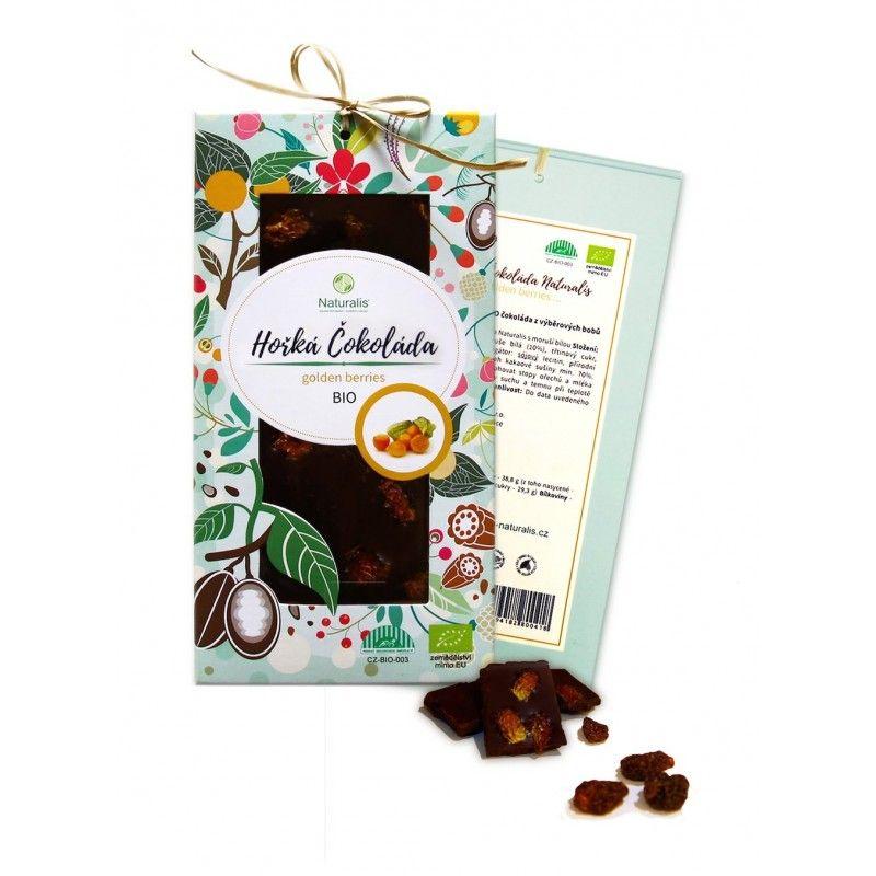 BIO Hořká Čokoláda Naturalis s golden berries - 80g