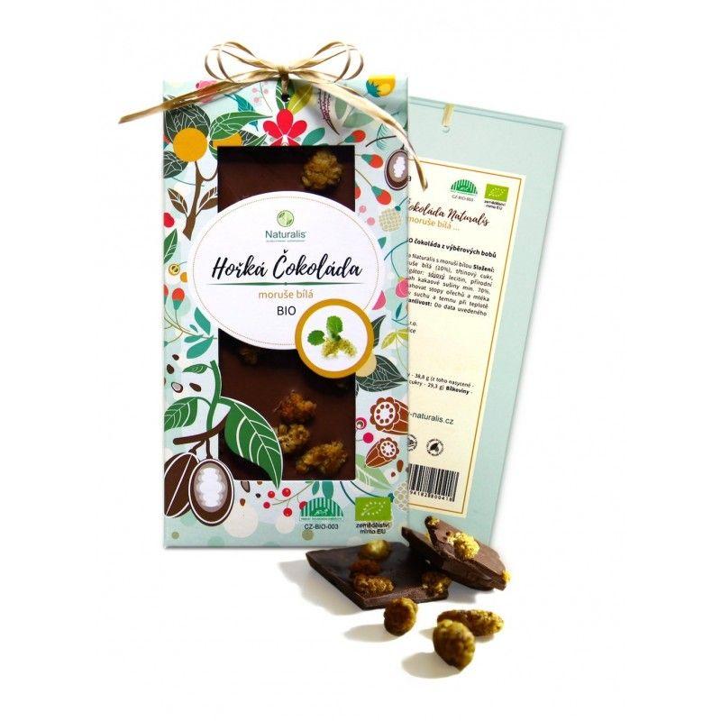 BIO Hořká Čokoláda Naturalis s moruší bílou - 80g
