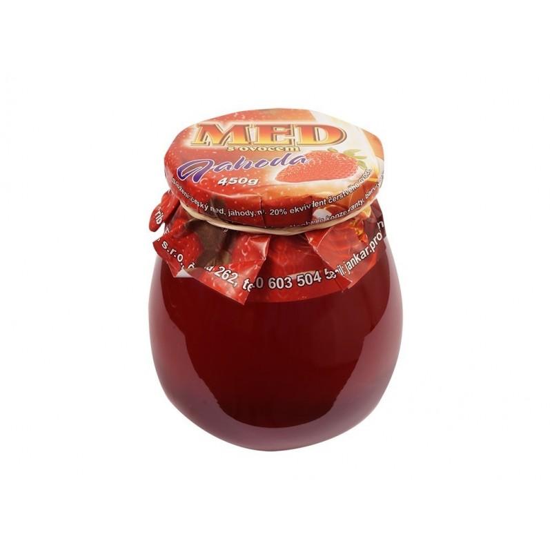 Med s ovocem jahodový Jankar Profi - 400 g