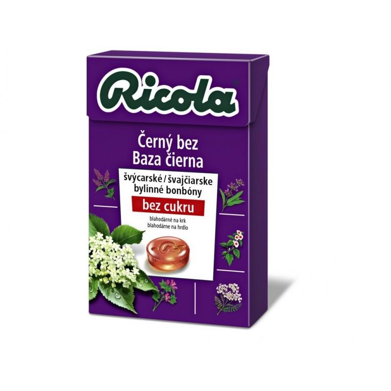 Černý bez bez cukru Ricola - 40 g