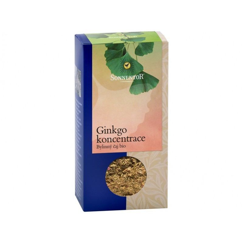 Ginkgo (koncentrace + zelený čaj) Sonnentor BIO - 50 g