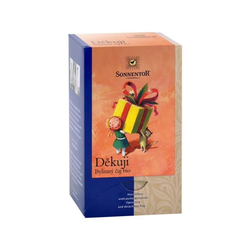 Děkuji - bylinný čaj Sonnentor BIO - 27 g (18 sáčků)