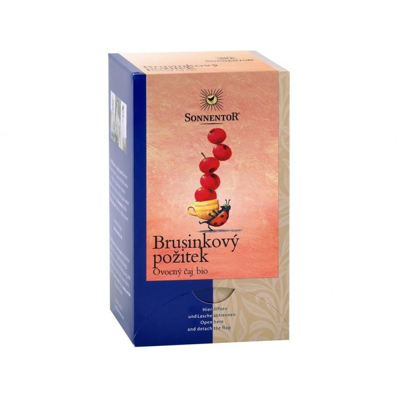 Brusinkový požitek čaj Sonnentor BIO - 50 +4 g (18 sáčků)