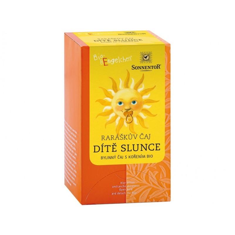 Raráškův čaj (dítě slunce + bylinný s kořením) Sonnentor BIO - 30 g (20 sáčků)