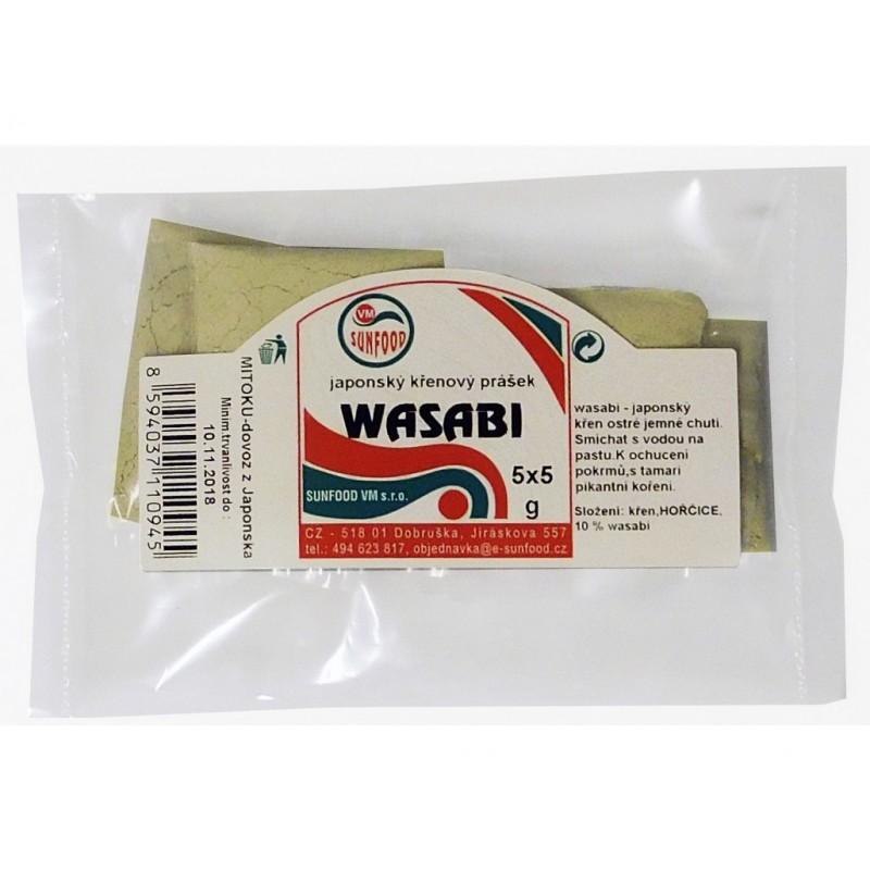 Wasabi + japonský křen v prášku Sunfood - 25 g