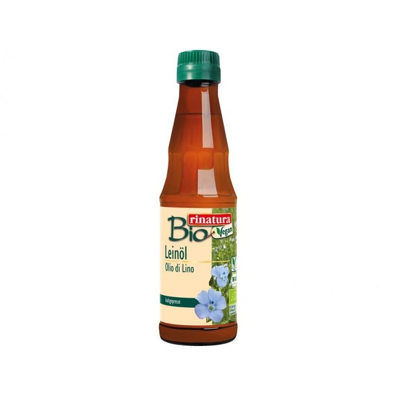 Lněný olej za studena lisovaný Rinatura BIO - 250 ml