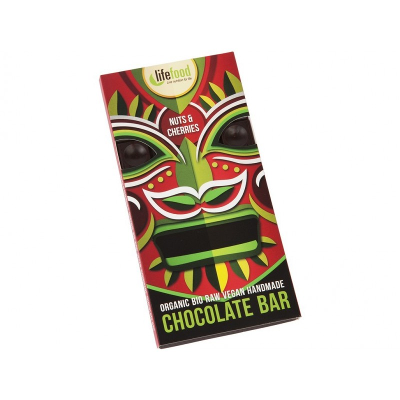 Chocolate s kousky ořechů a třešní Lifefood BIO - 70 g