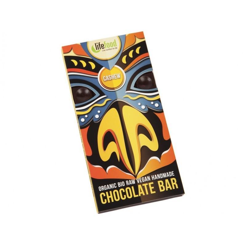 Chocolate s kousky kešu ořechy Lifefood BIO - 70 g