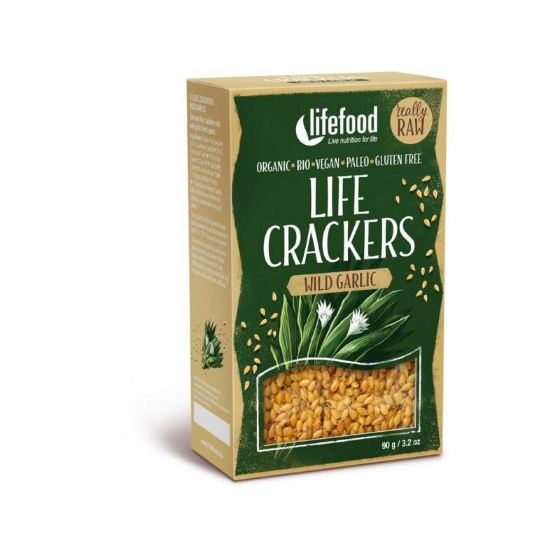 Life crackers s medvědímČesnekem Lifefood BIO - 90 g