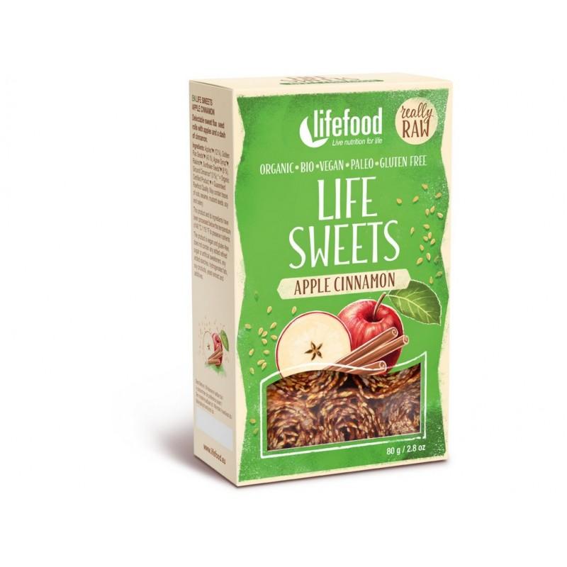 Life sweets jablečné se skořicí Lifefood BIO - 80 g