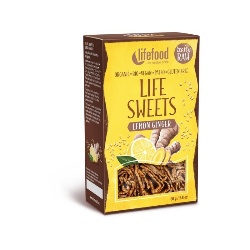 Life sweets zázvorové s citronovou kůrou Lifefood BIO - 80 g