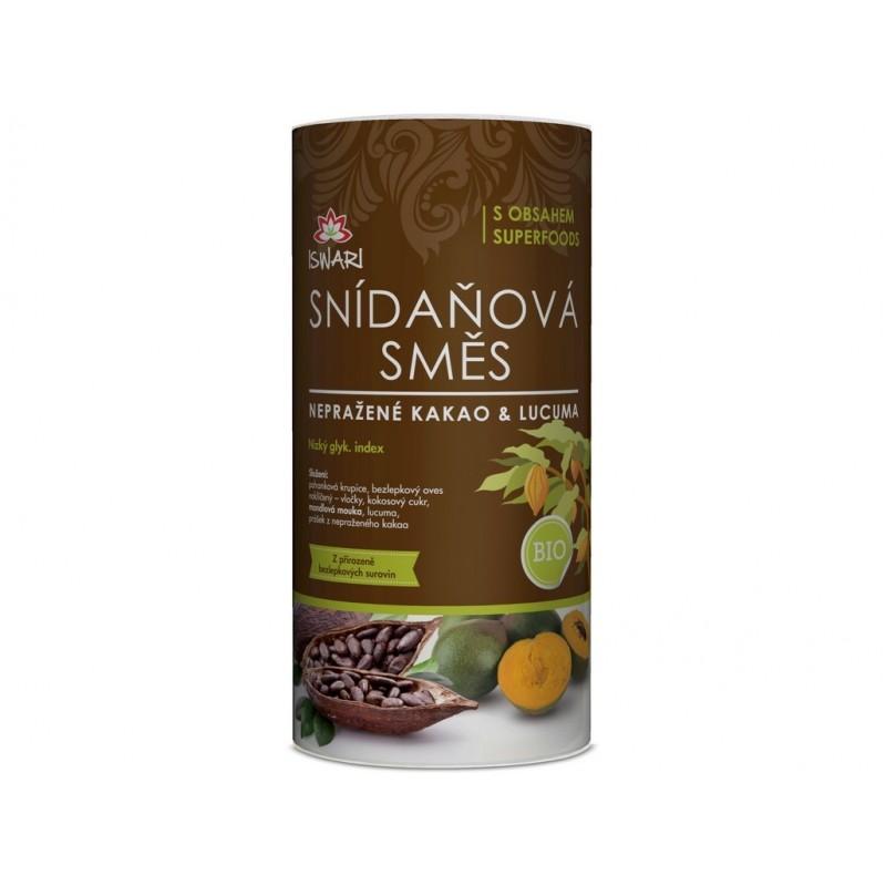 Snídaňová směs nepražené kakao & lucuma Iswari BIO - 800 g