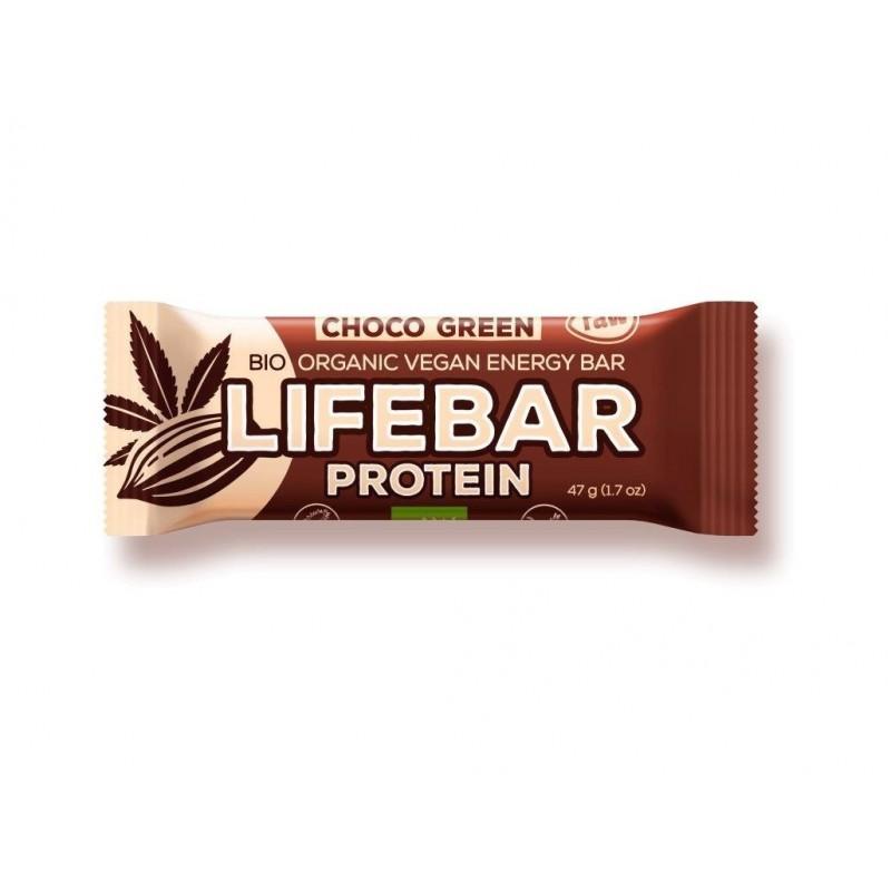 Tyčinka Lifebar protein čokoláda a konopný protein Lifefood BIO - 47 g