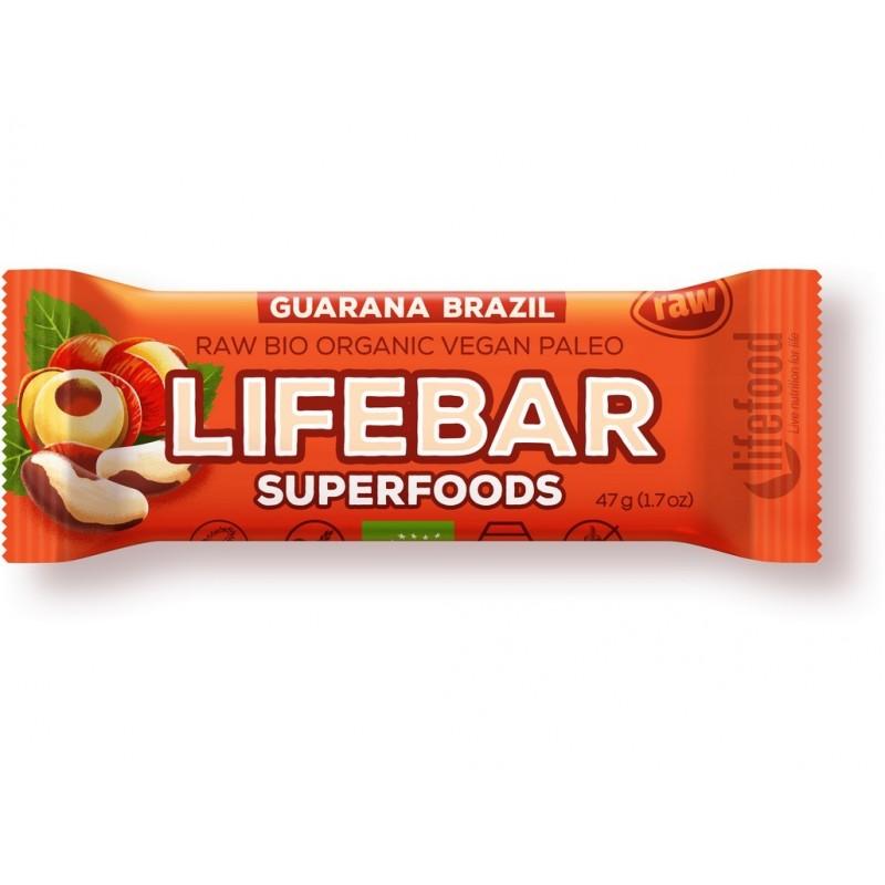 Tyčinka Lifebar superfoods guarana a brazil Lifefood BIO - 47 g