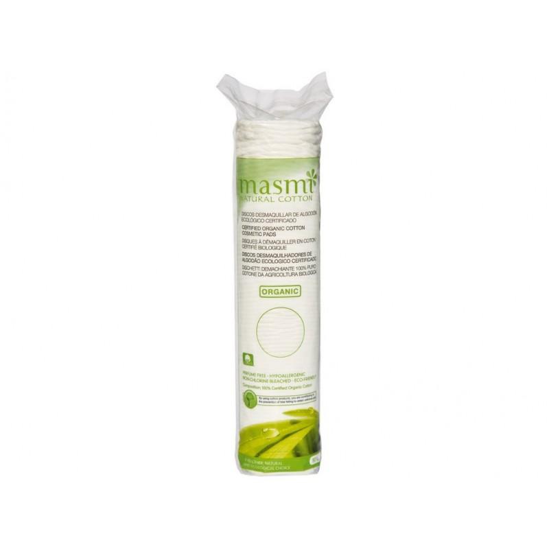 Kosmetické vatové polštářky z organické bavlny Masmi - 80 ks