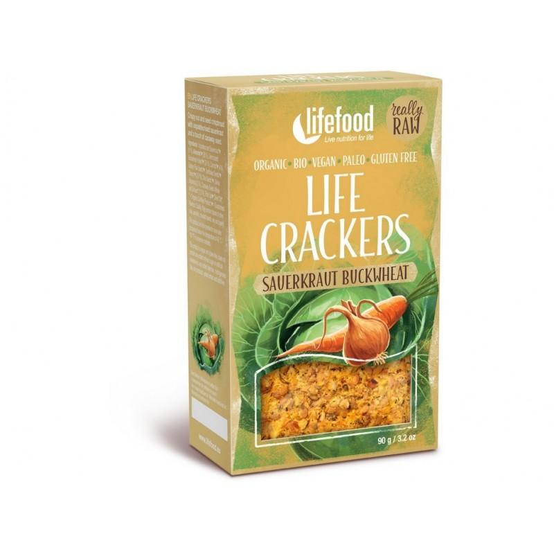Life Crackers zelňáky RAW Lifefood BIO - 90 g