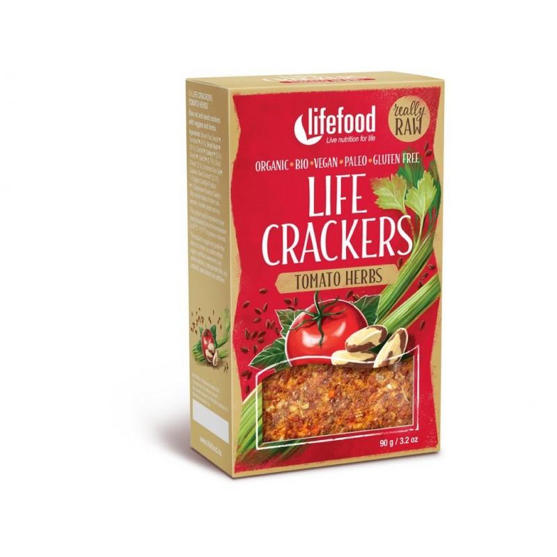 Life crackers rajčatové Lifefood BIO - 90 g