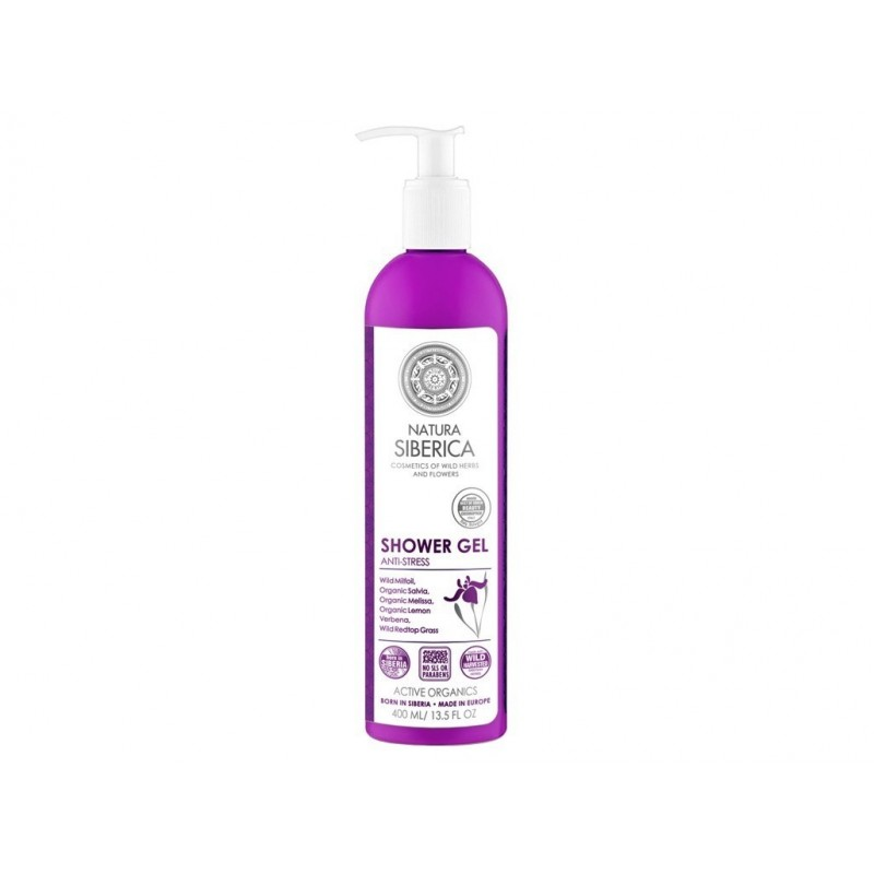 """Sprchový gel pro pružnou pleť """"antistresový"""" Natura Siberica - 400 ml"""