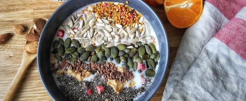Amarantová kaše s kakaovými boby