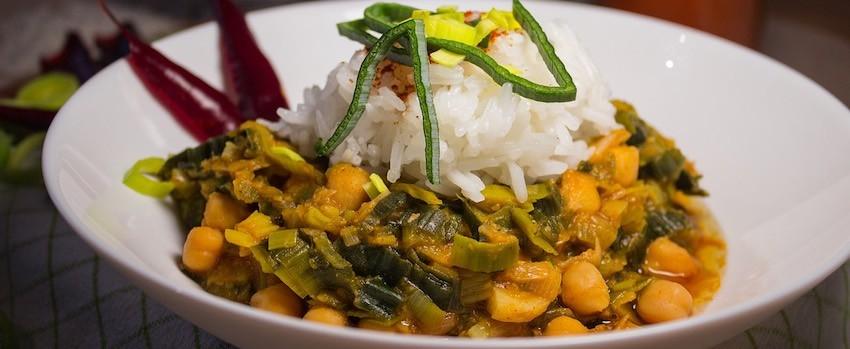 Cizrnové curry s kapkou agáve