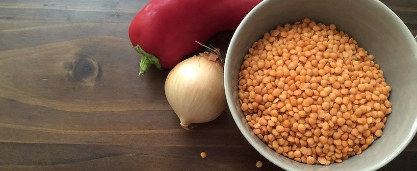 Čočková pomazánka s konopnými semínky