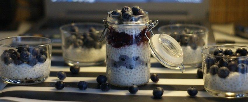 Tapiokový pudink s maqui berry